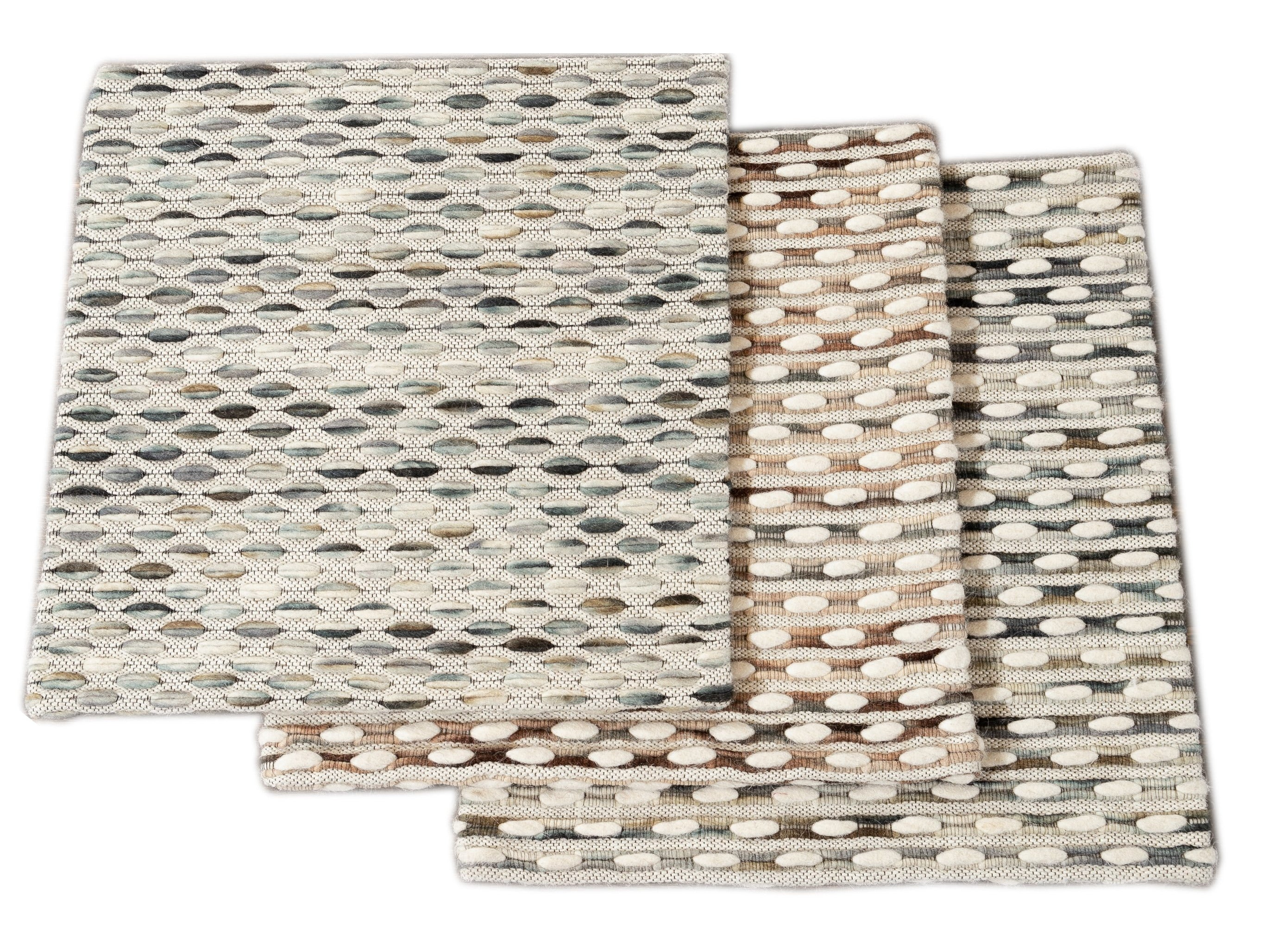 Easton Collection Woven Felt Textured Jaquard Wool Custom Rug