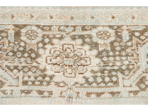 Early 20th Century Antique Heriz Wool Rug 9 X 13