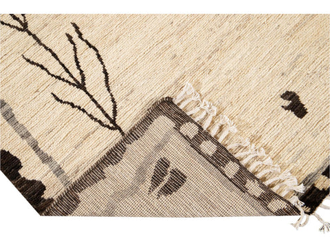 Modern Moroccan-Style Tribal Room size Wool Rug 8 X 10