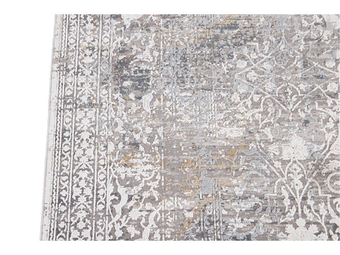 Contemporary Wool and Silk Rug 6 X 9