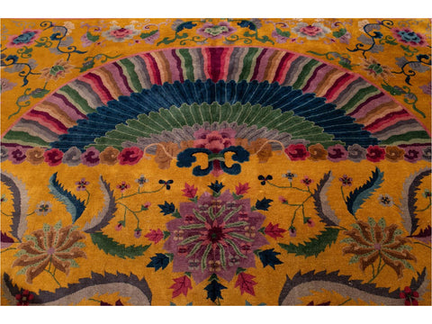 Early 20th Century Antique Art Deco Chinese Wool Rug 10' x 14'