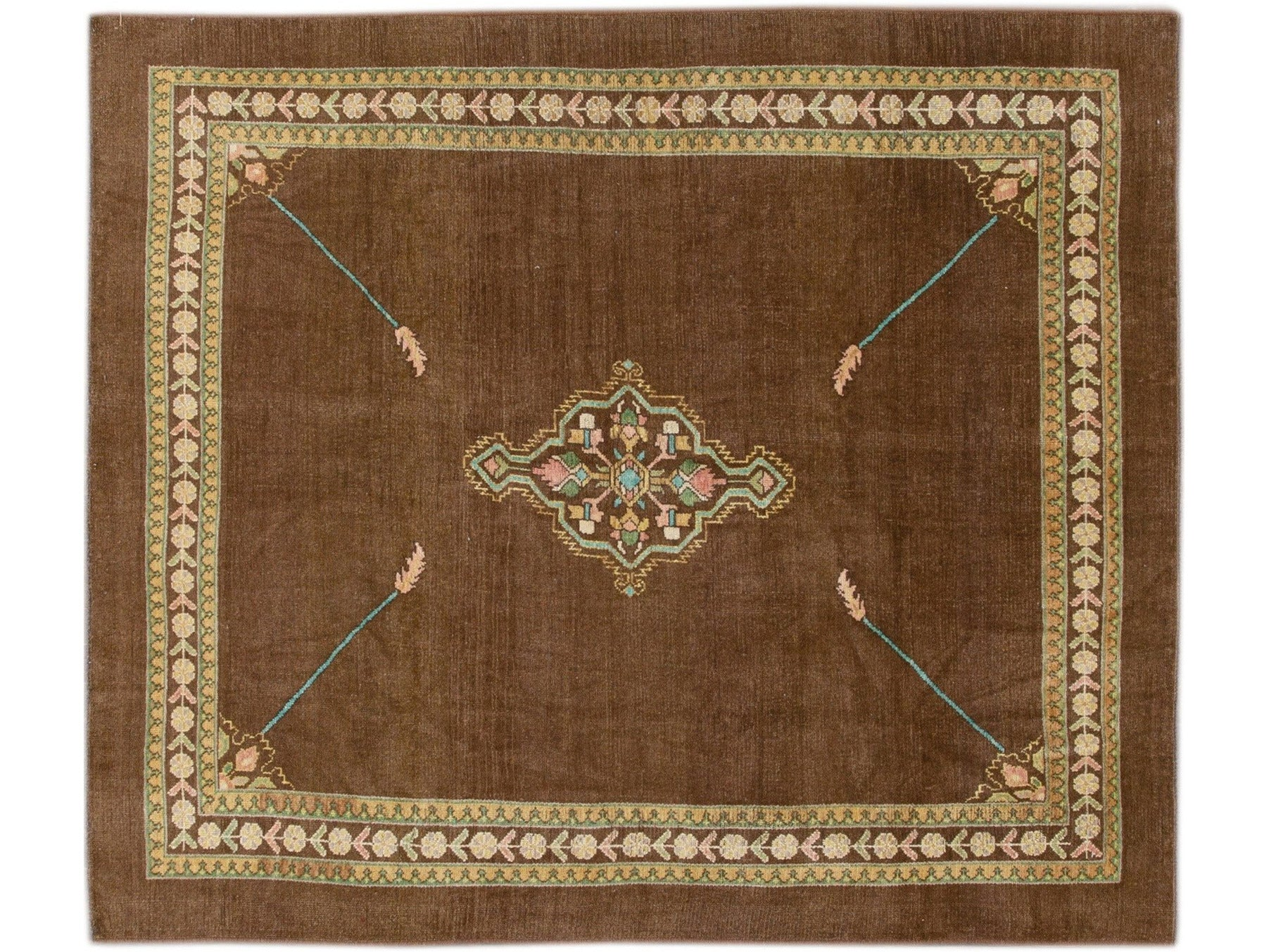 Modern Revival Wool Rug 7 X 8