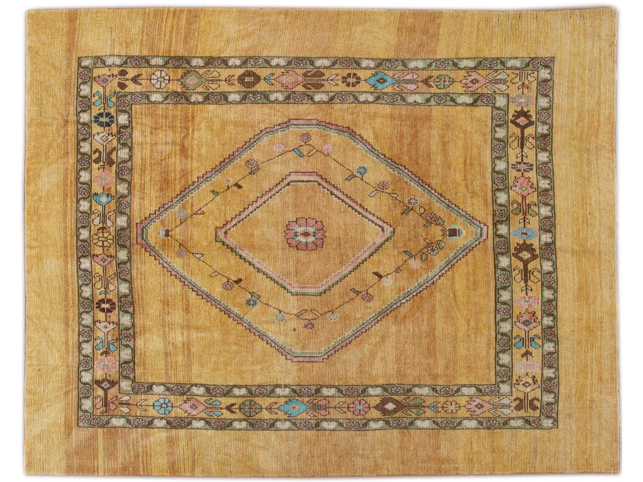 Modern Revival Wool Rug 7 X 9