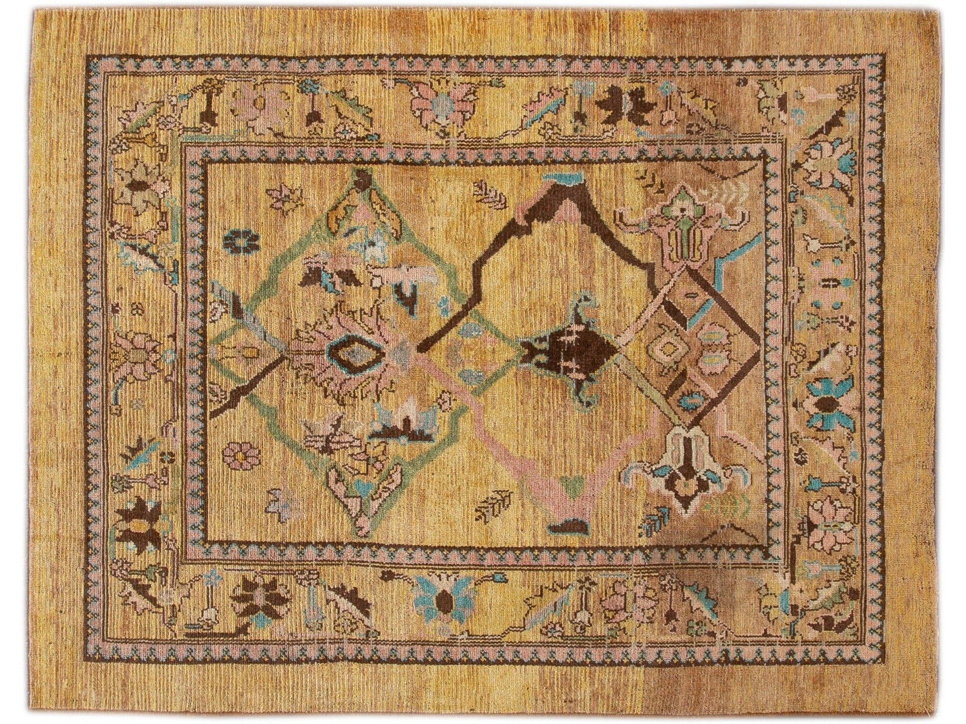 Modern Revival Wool Rug 6 X 8