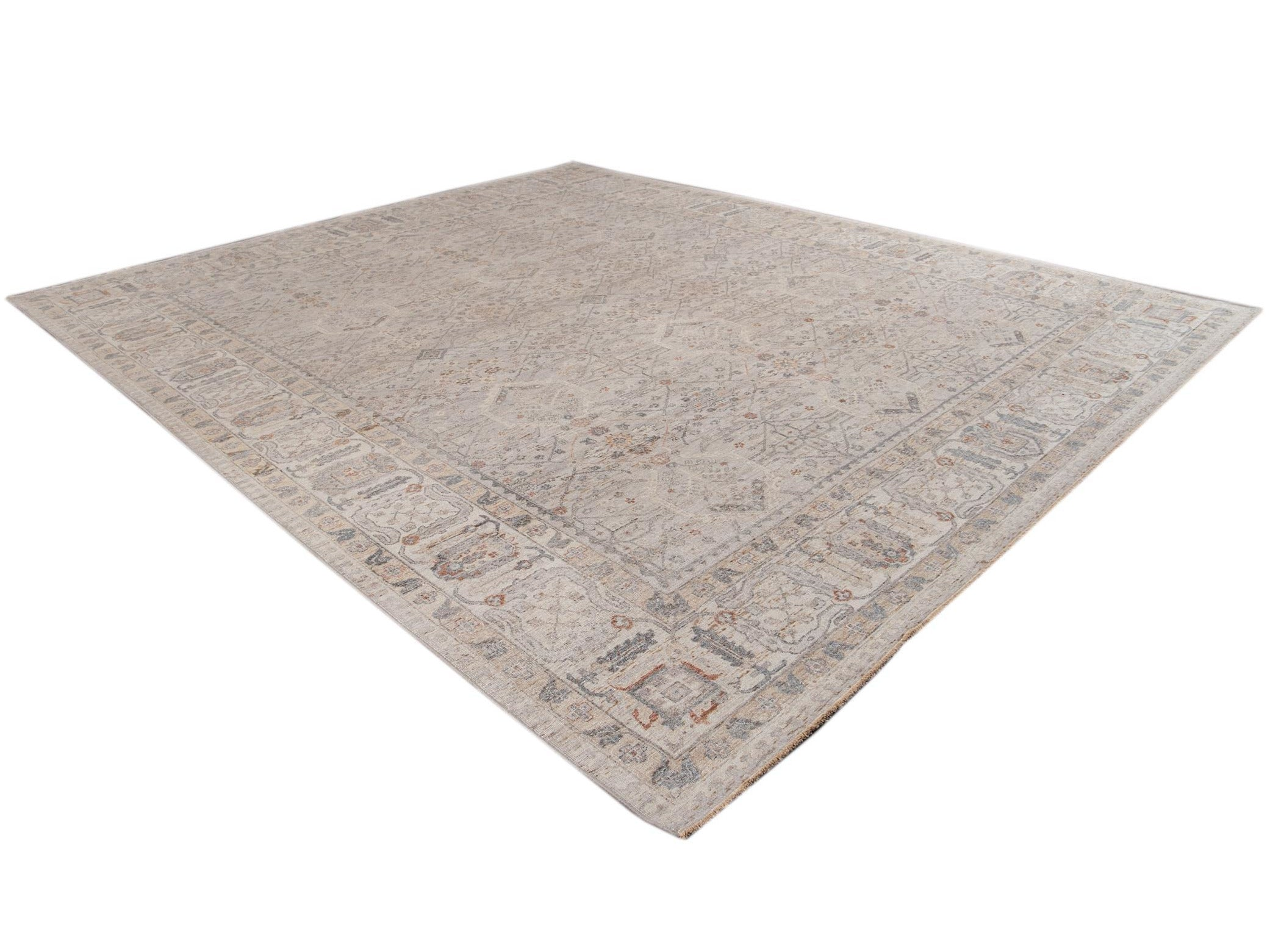 21st Century Contemporary Indian Wool Rug, 12 X 14