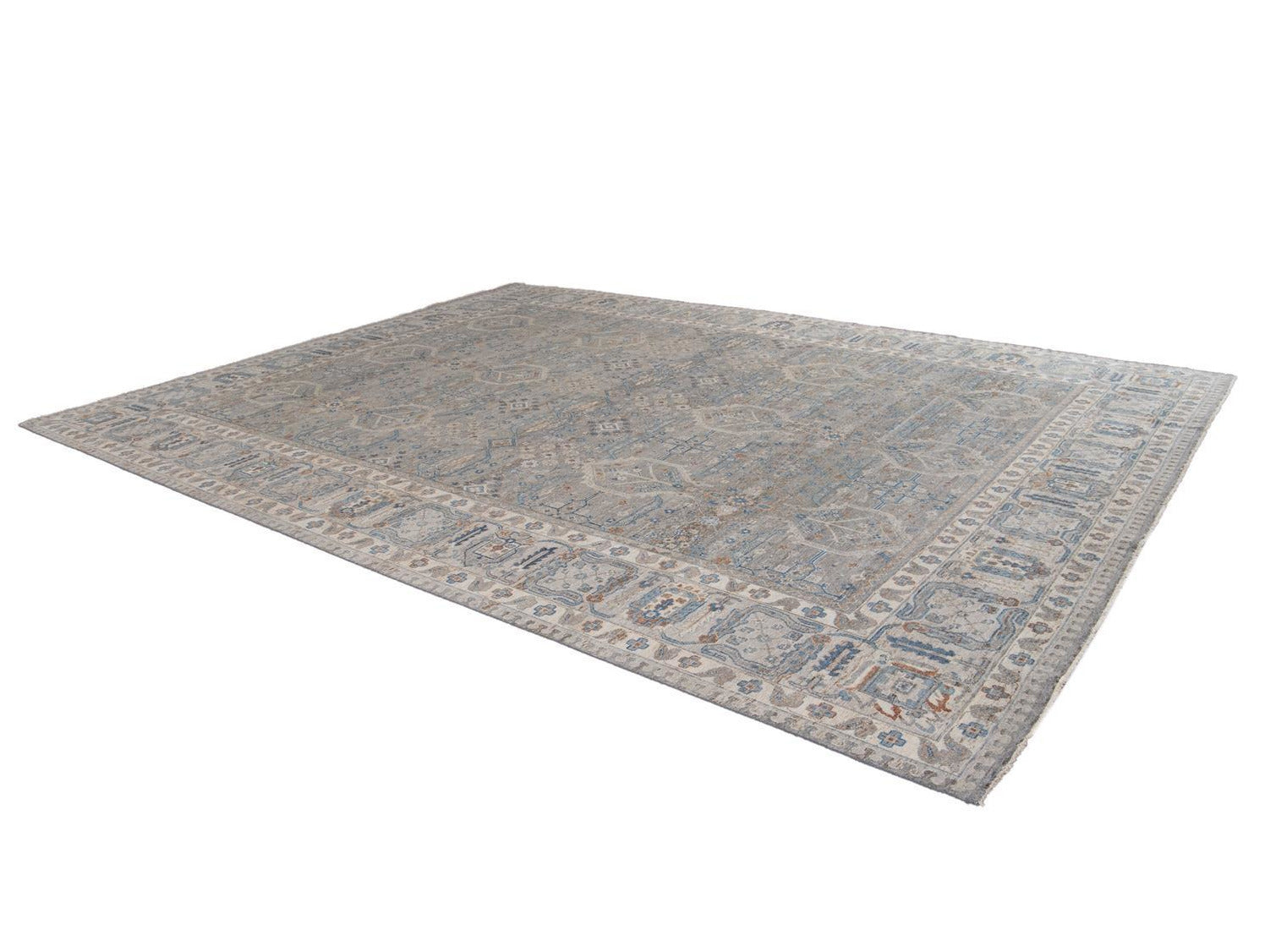 21st Century Contemporary Indian Wool Rug, 9 X 12
