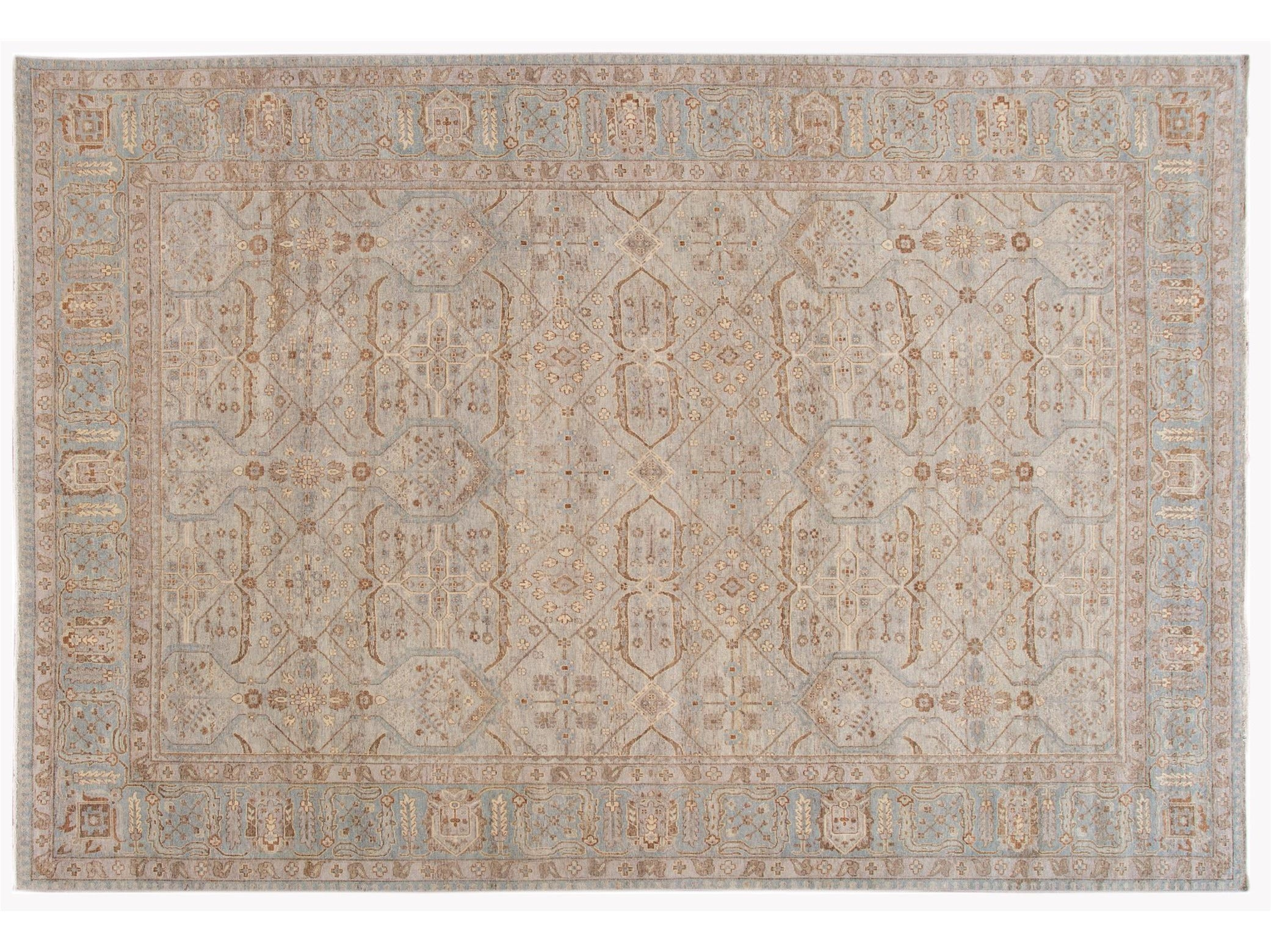 21st Century Contemporary Indian Wool Rug, 10 X 14