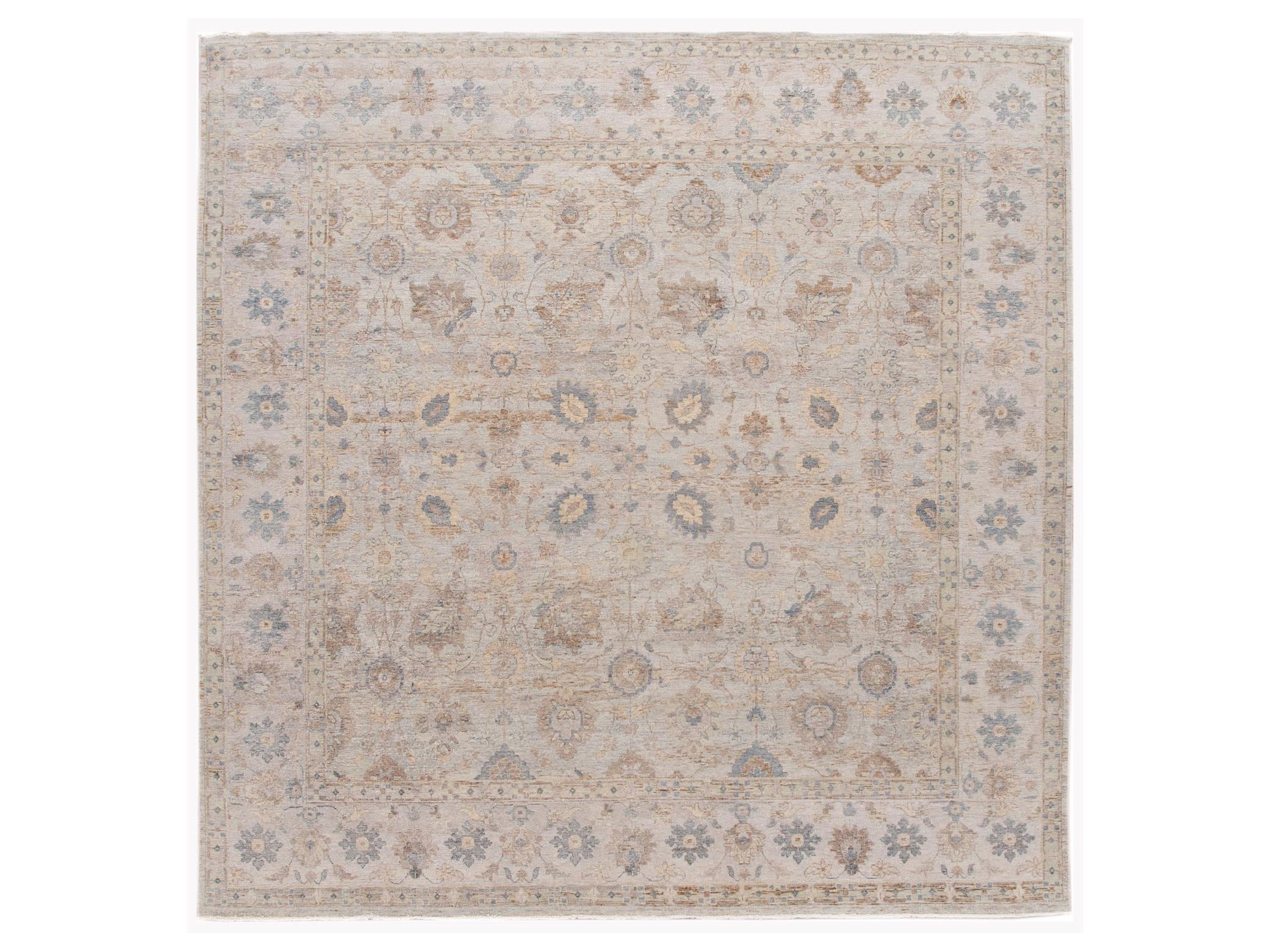 21st Century Contemporary Indian Wool Rug, 10 X 10