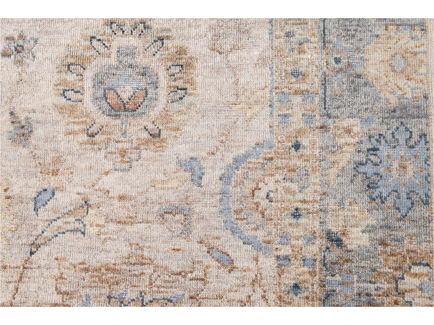 Wilton Collection Hand-Woven Wool Custom Modern Rug