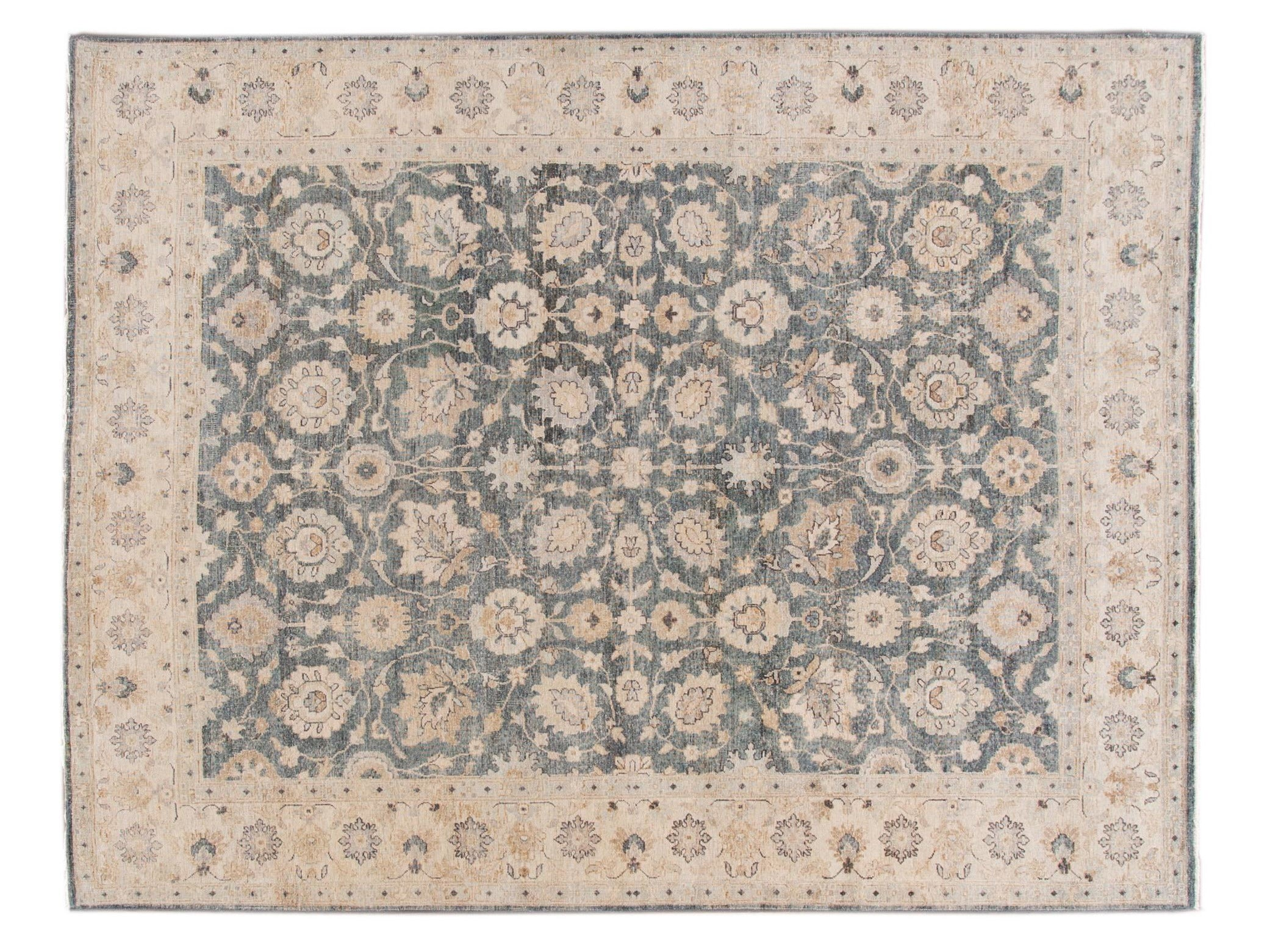 21st Century Contemporary Indian Wool Rug, 8 X 11