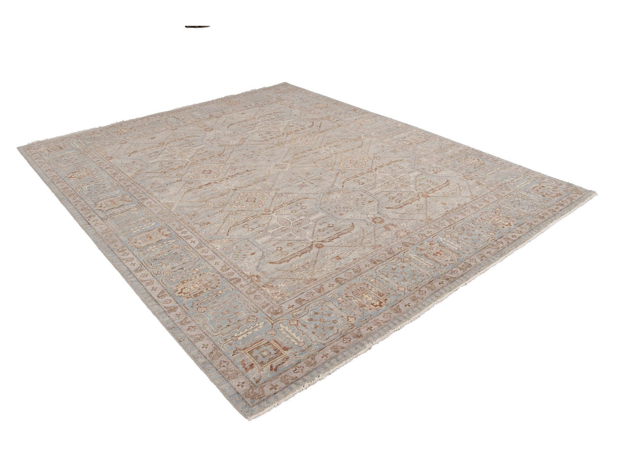 21st Century Contemporary Indian Wool Rug, 8 X 10