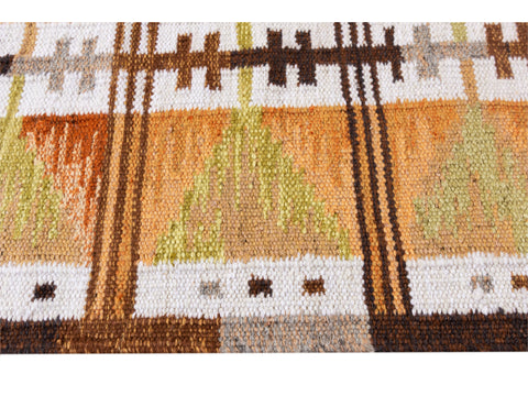 Modern Swedish-Style Wool Rug 9 X 12