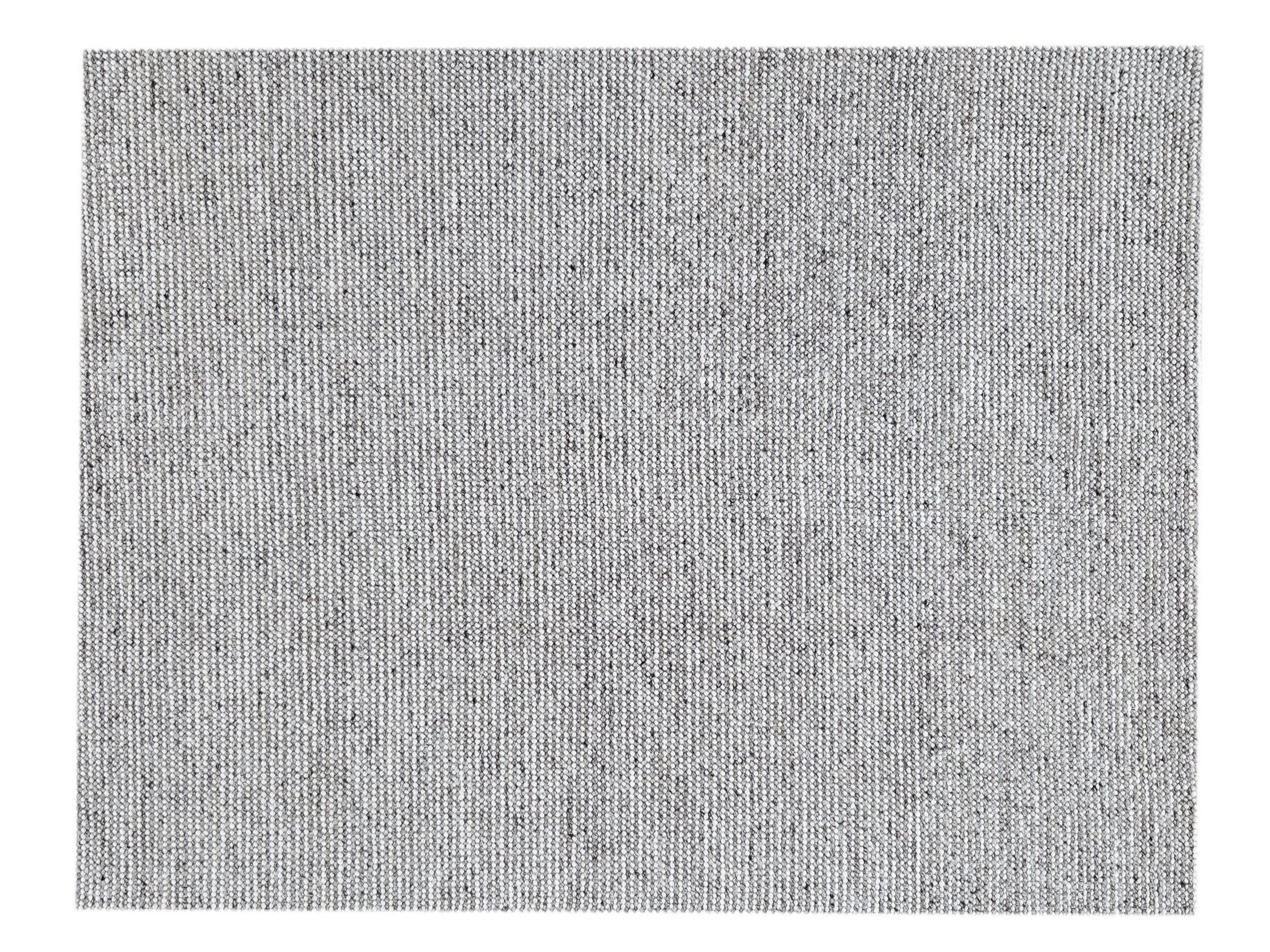 Contemporary Handwoven Texture Wool Rug, 8' x 10'