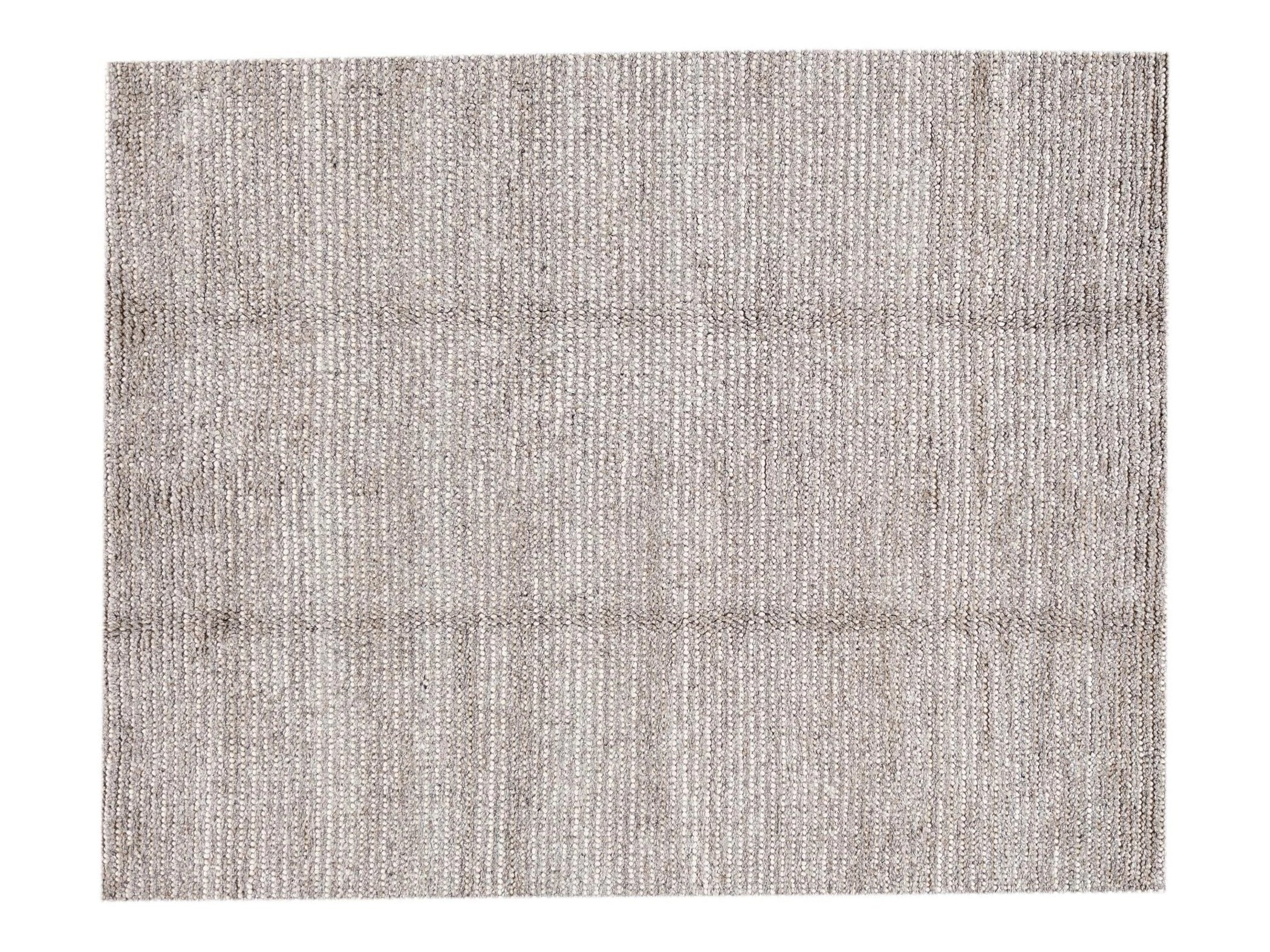 21st Century Contemporary Textured Wool Rug 8' x 10'
