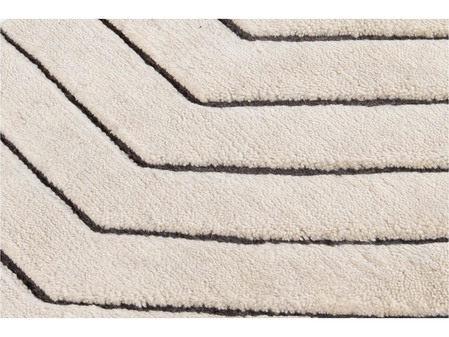 Ivory Textured Wool Custom Rug