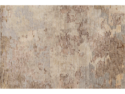 Groove Contemporary Loop & Cut Custom Wool & Silk Rug