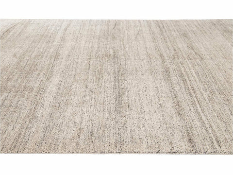 New Ivory Transitional-Style Wool And Silk Rug 10 X 14