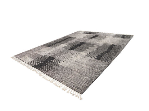 21st Century Contemporary Textured Ribbed Wool Rug, 12' x 15'