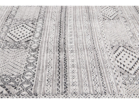21st Century Contemporary Textured High Low Wool Rug, 8' x 10'