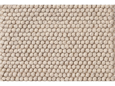 Easton Collection Solid-colored Wool Textured Custom Rug