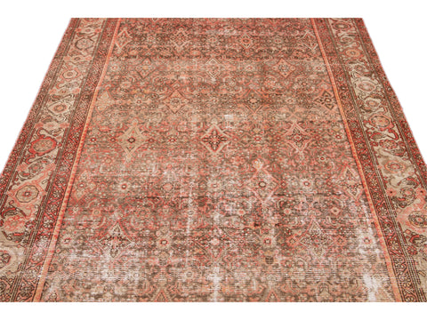 Antique Malayer Wool Runner 6 x 13