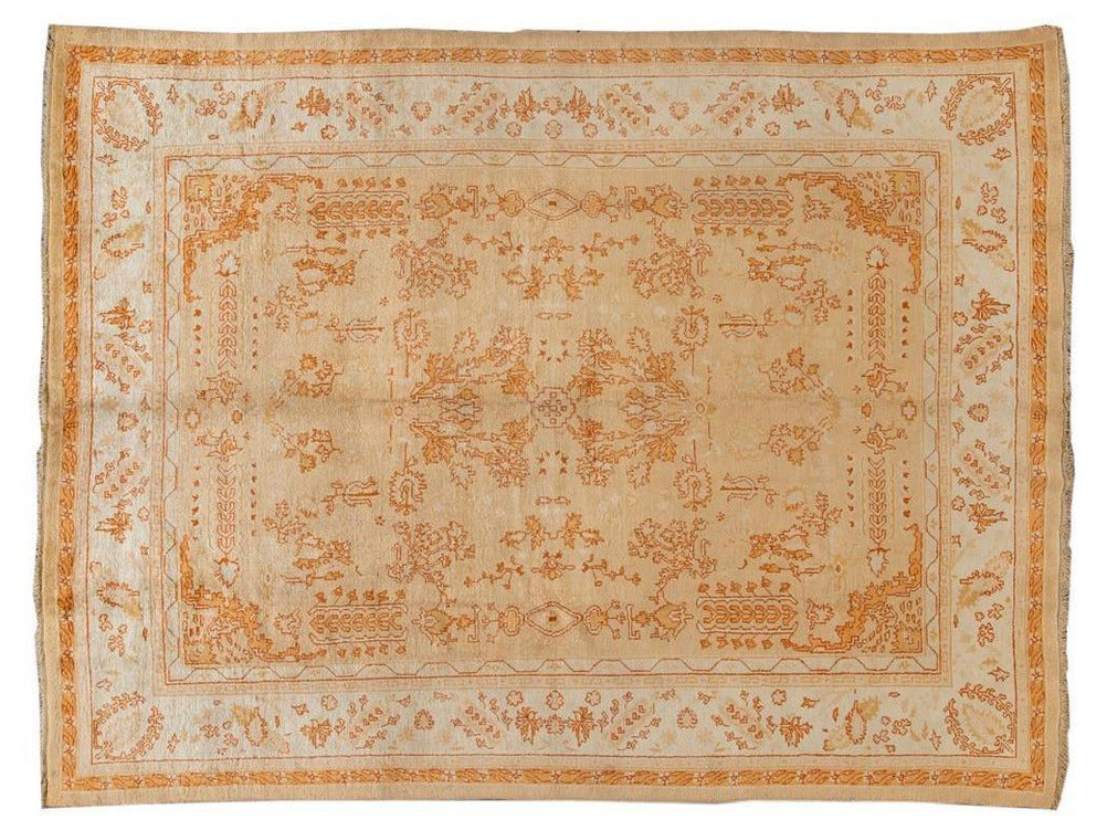Antique Oushak Wool Rug 10 X 13