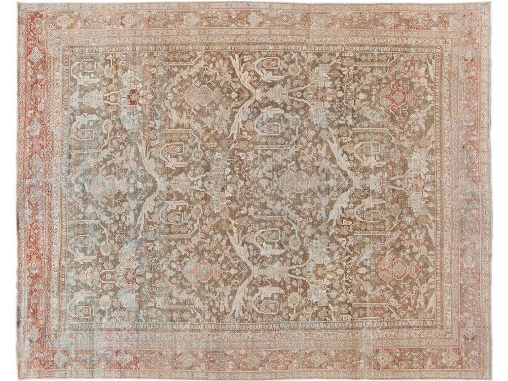 Antique Mahal Wool Rug 10 X 13