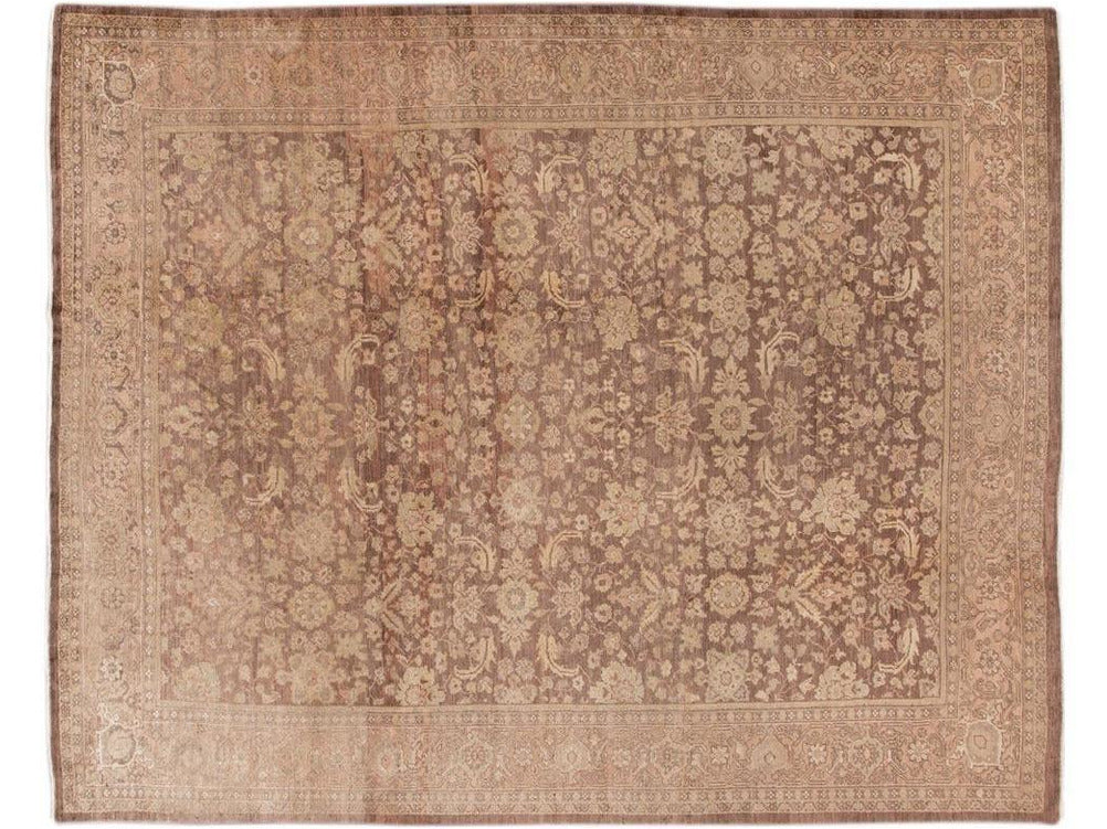 Antique Persian Mahal Wool Rug 10 X 12