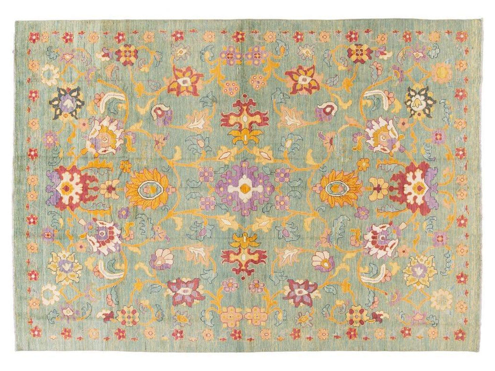 Modern Oushak Colorful Wool Rug 10 X 15