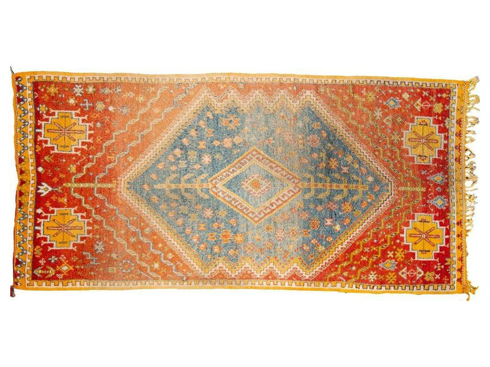 Antique Moroccan Wool Rug 5 X 8