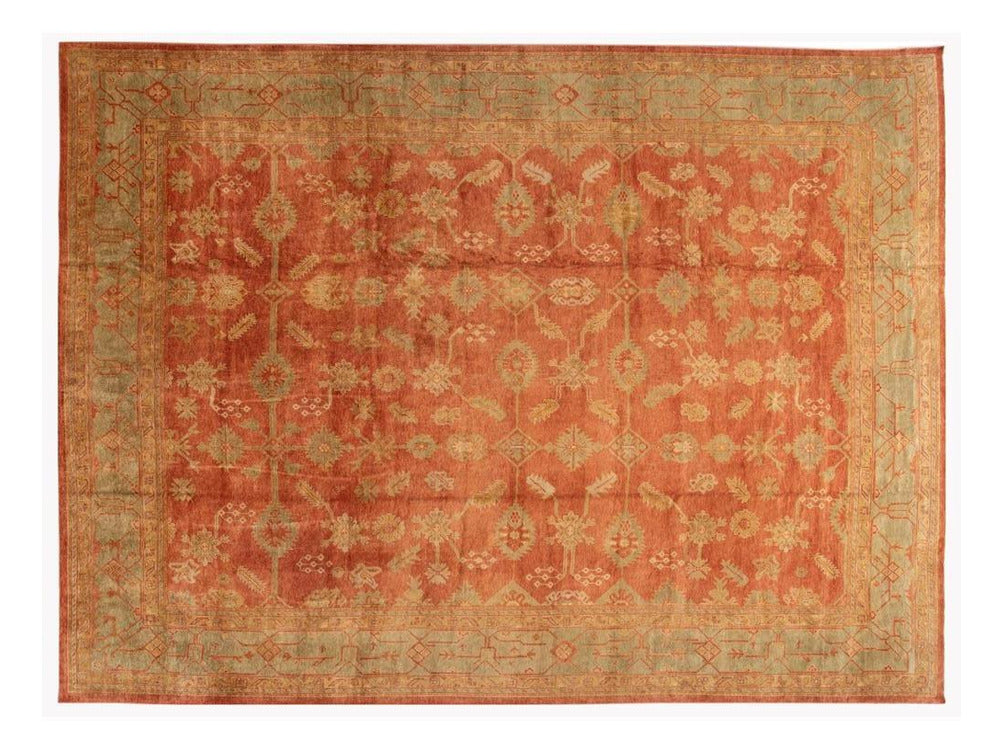 21st Century Contemporary Modern Oushak wool Rug 14 X 19