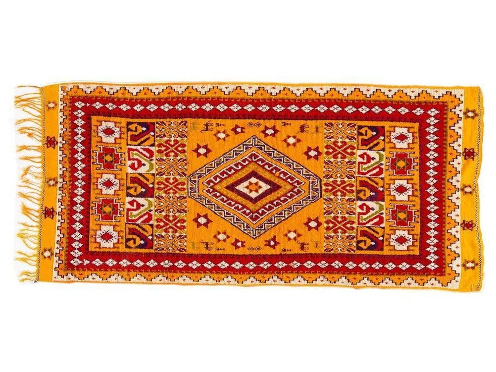 Mid-20th Century Vintage Moroccan Tribal Wool Rug 5 X 11