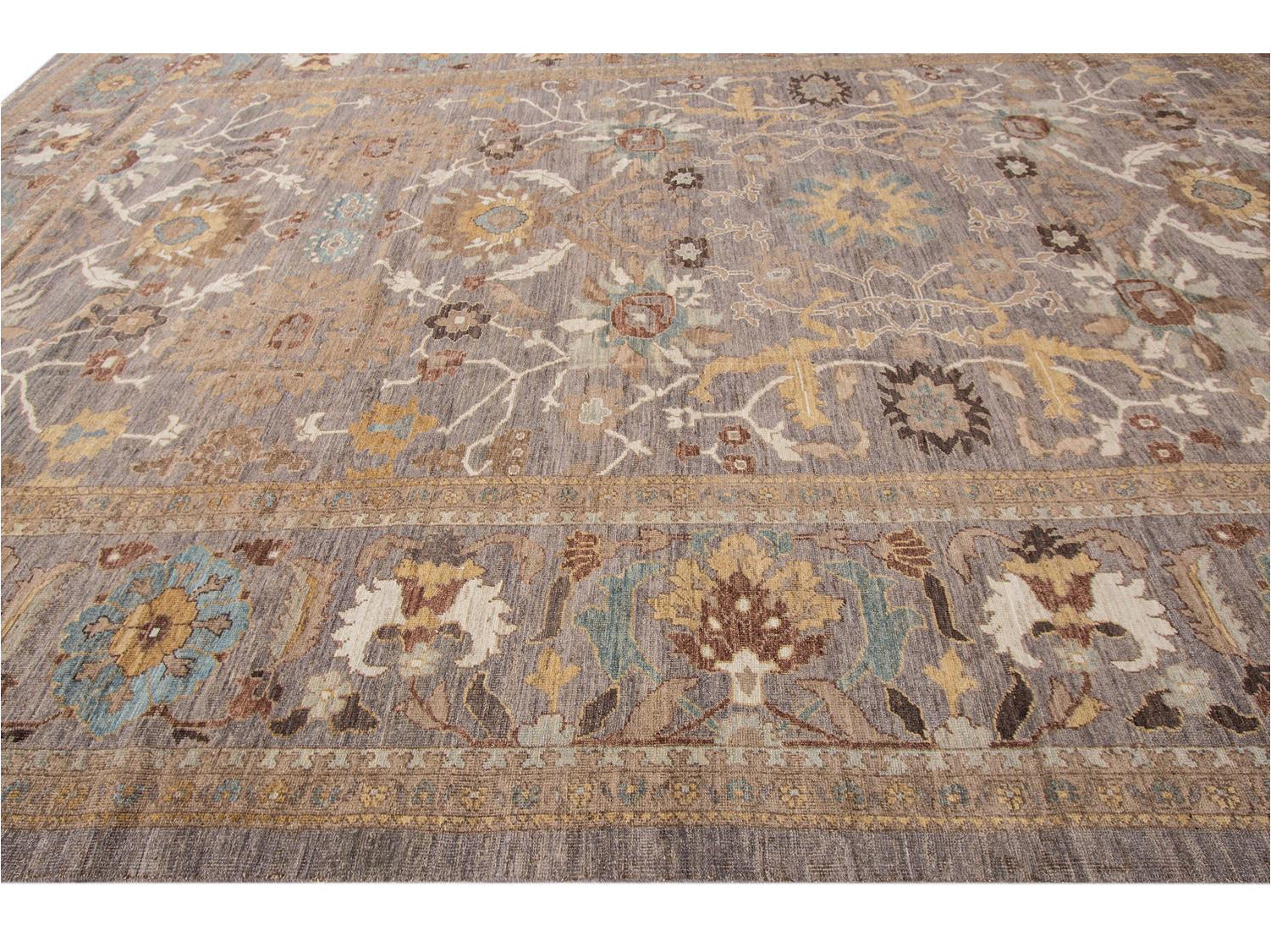Contemporary Sultanabad Wool Rug 12 X 19