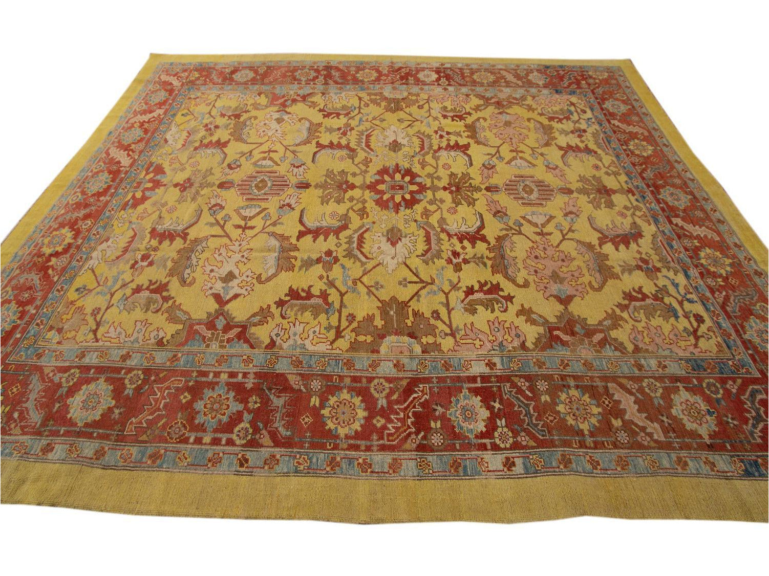 Vintage Bakshaish Tribal Wool Rug 11 X 13