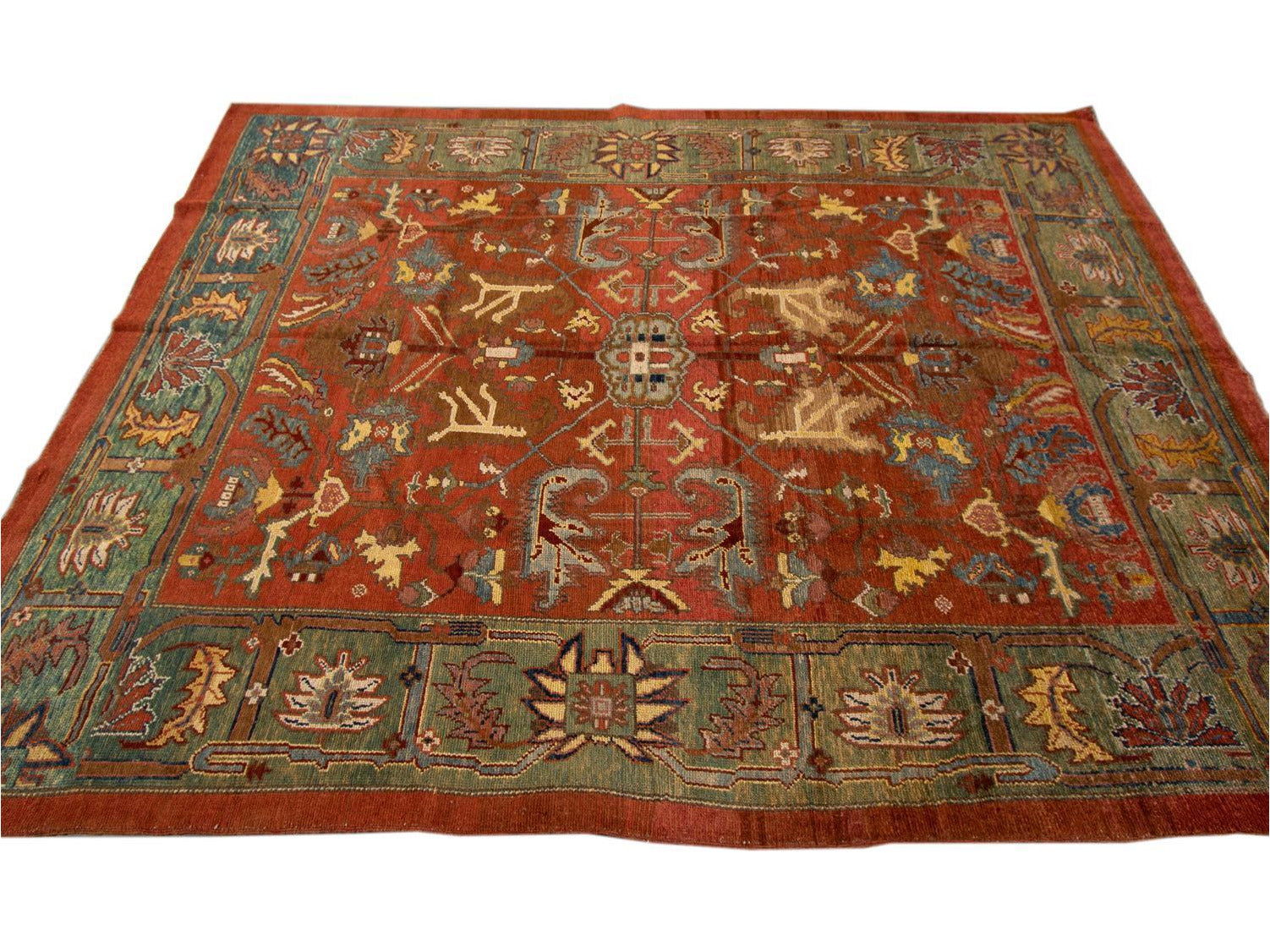 Vintage Bakshaish Tribal Wool Rug 7 X 10