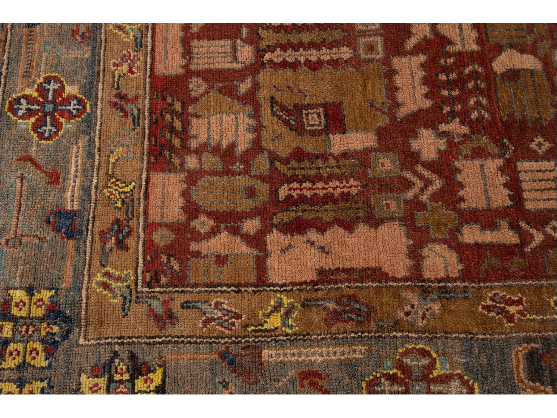 Vintage Bakshaish Tribal Wool Rug 10 X 13