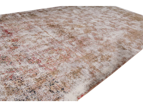 Late 20th Century Antique Tabriz Distrssed Wool Rug, 9 X 19