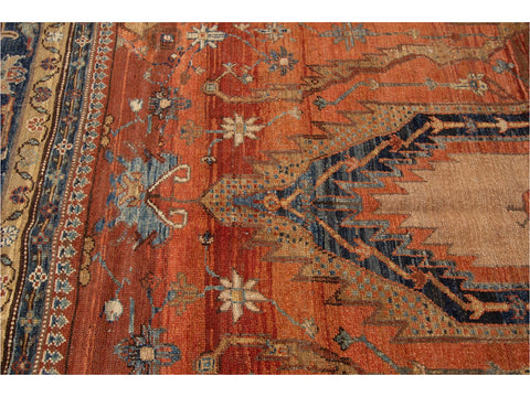 Vintage Bakshaish Tribal Wool Rug 8 X 14