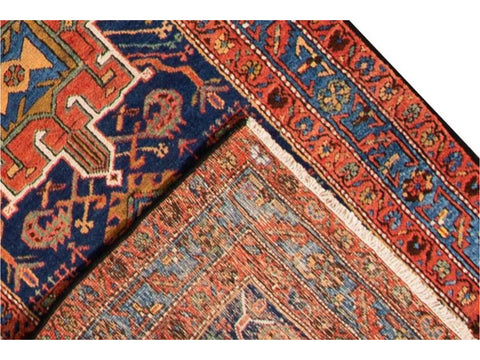 Antique Heriz Runner Rug, 3X18