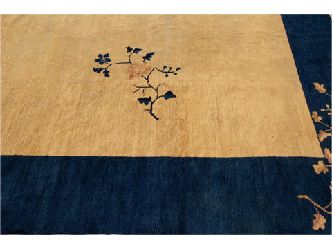 Vintage Art Deco Chinese Wool Rug 10 X 13