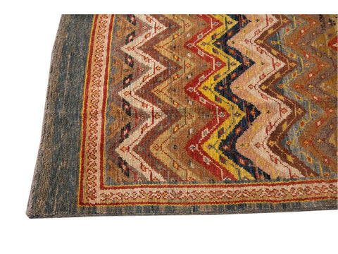 Vintage Persian Tribal Wool Rug 6 X 8