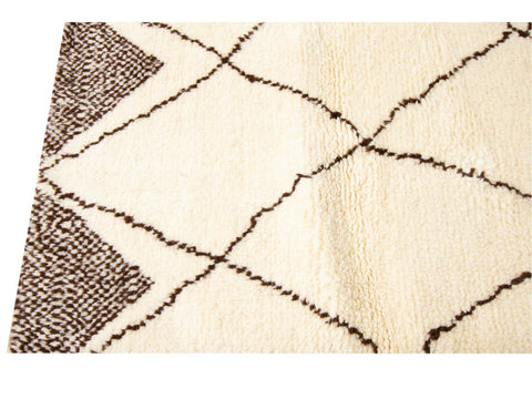 21st Century Modern Moroccan Style Wool Rug 10 X 14