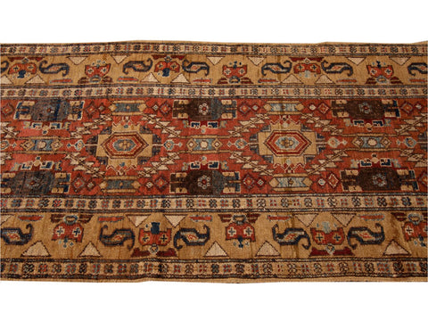 Vintage Bakshaish Tribal Wool Runner 3 X 13