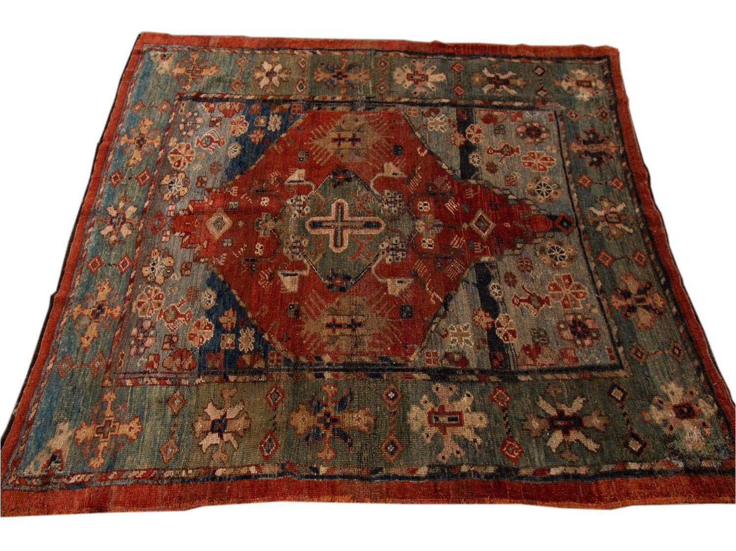 Vintage Bakshaish Tribal Wool Rug 5 X 6