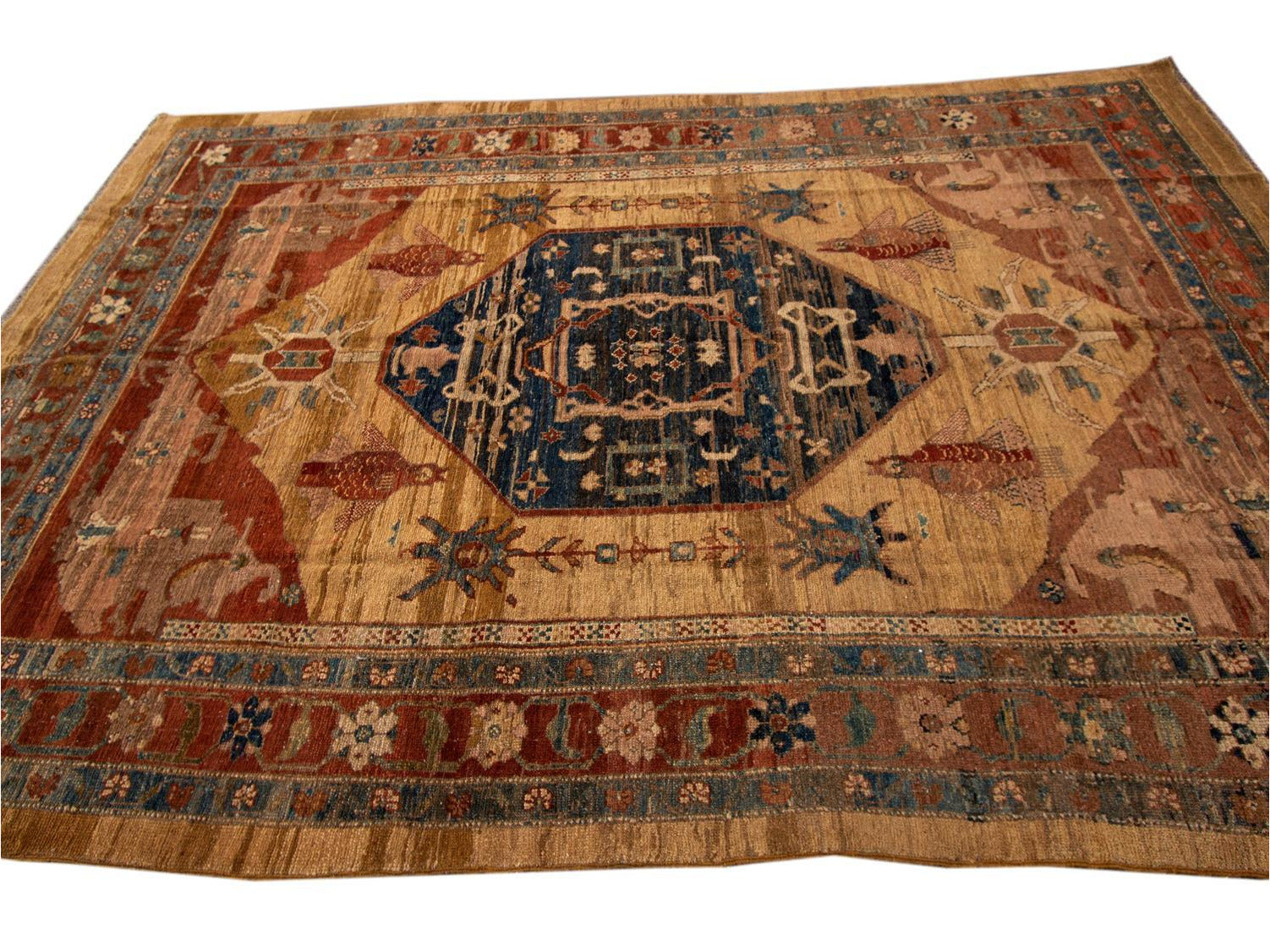 Vintage Bakshaish Tribal Wool Rug 7 X 11