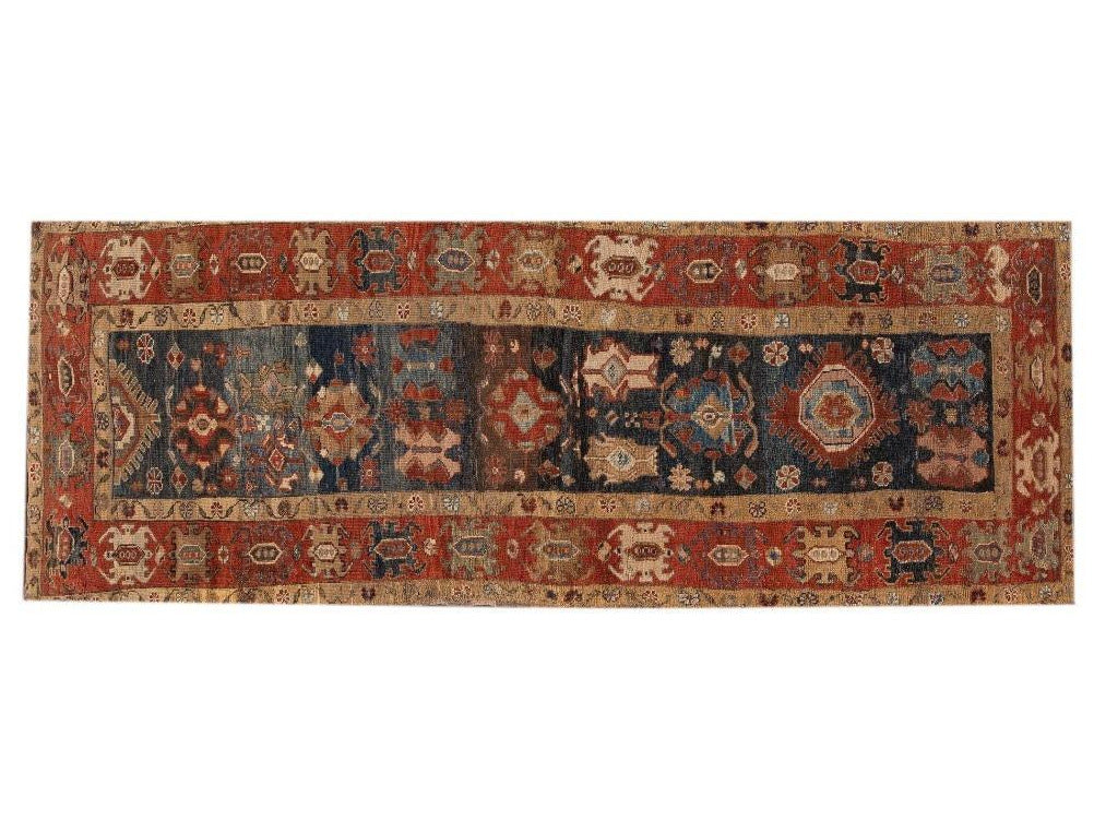 Vintage Tribal Bakshaish Rug, 4x10