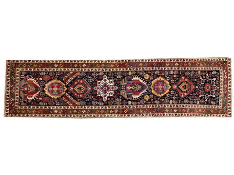20th Century Antique Caucasian Kazak Runner Rug, 4X13