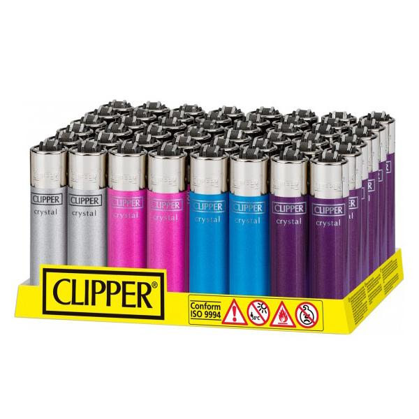40 Clipper Crystal Large Classic Flint Lighters - CL2C222UKH - Flavourclouds Discount Vape