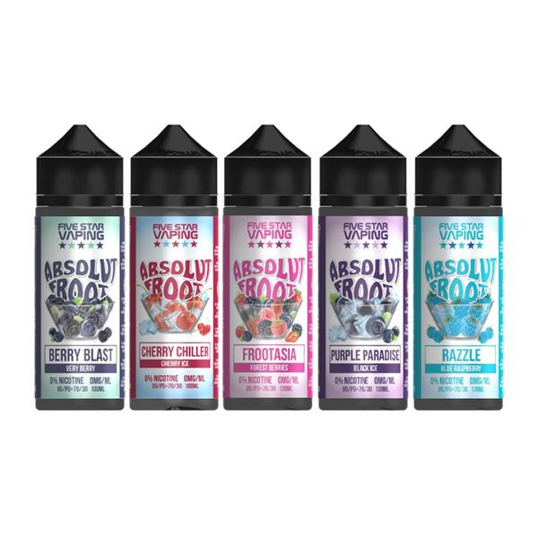 Absolut Froot by V-Juice 0mg 100ml Shortfill (70VG/30PG) - Flavourclouds Discount Vape