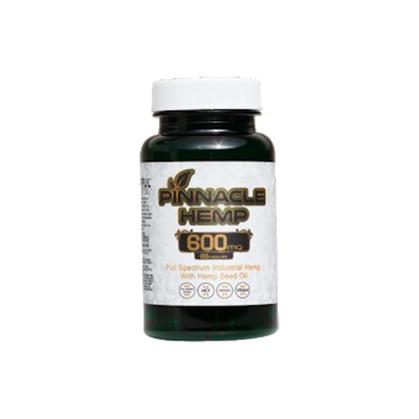 Pinnacle Hemp CBD Capsules 60CT 600mg CBD - Flavourclouds Discount Vape